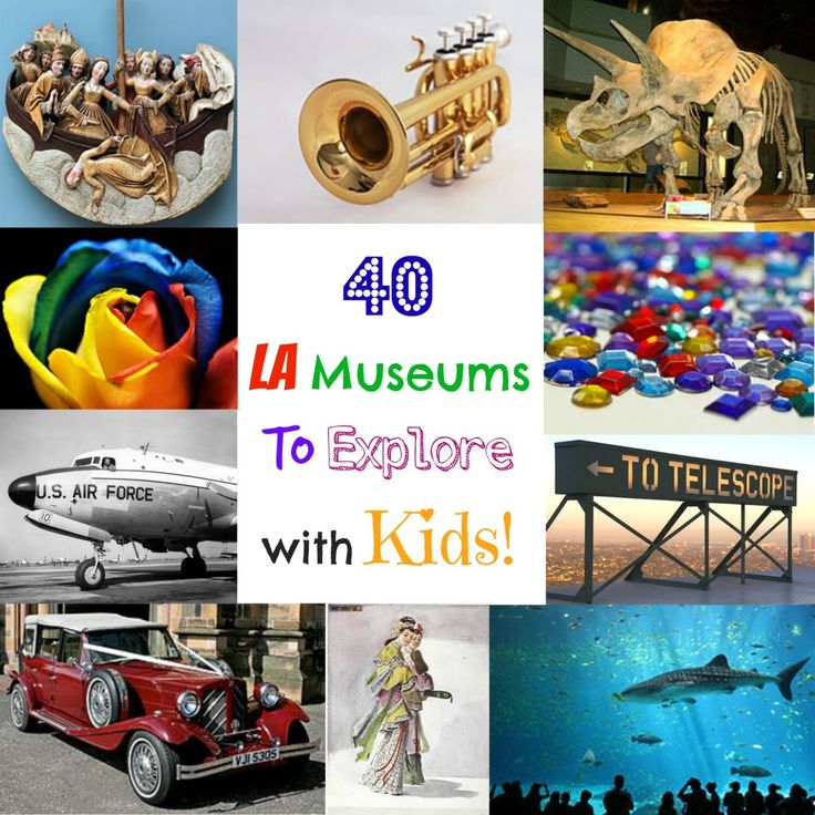 40 LA Museums to Explore with Kids.  From Zimmer Children's Museum to The Los Angeles Fire Fighters Museum to The Getty, there is something for all children to enjoy.