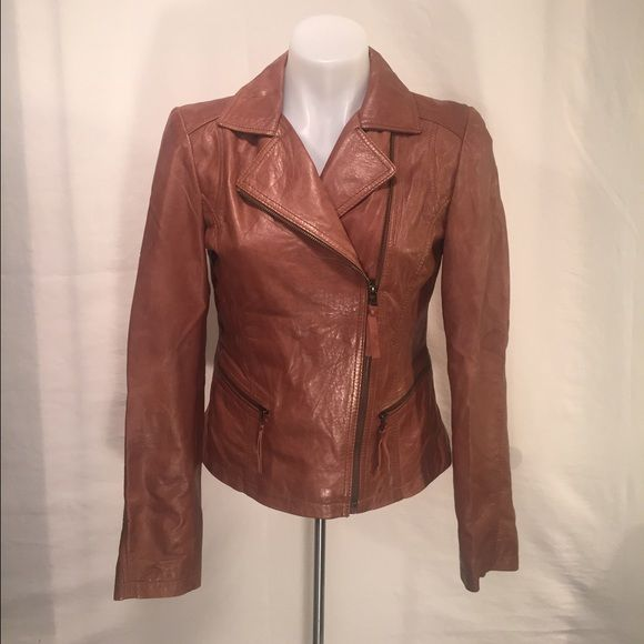 Marc New York By Andrew Marc Leather Jacket Small Gorgeous ladies biker jacket 100% leather, shell is 100% polyester. No flaws at all!! Andrew Marc Jackets & Coats