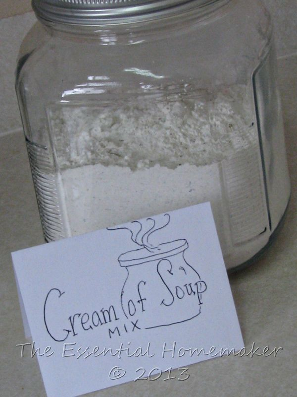 DIY Food: Cream of Anything Soup Mix..no more can of chemicals