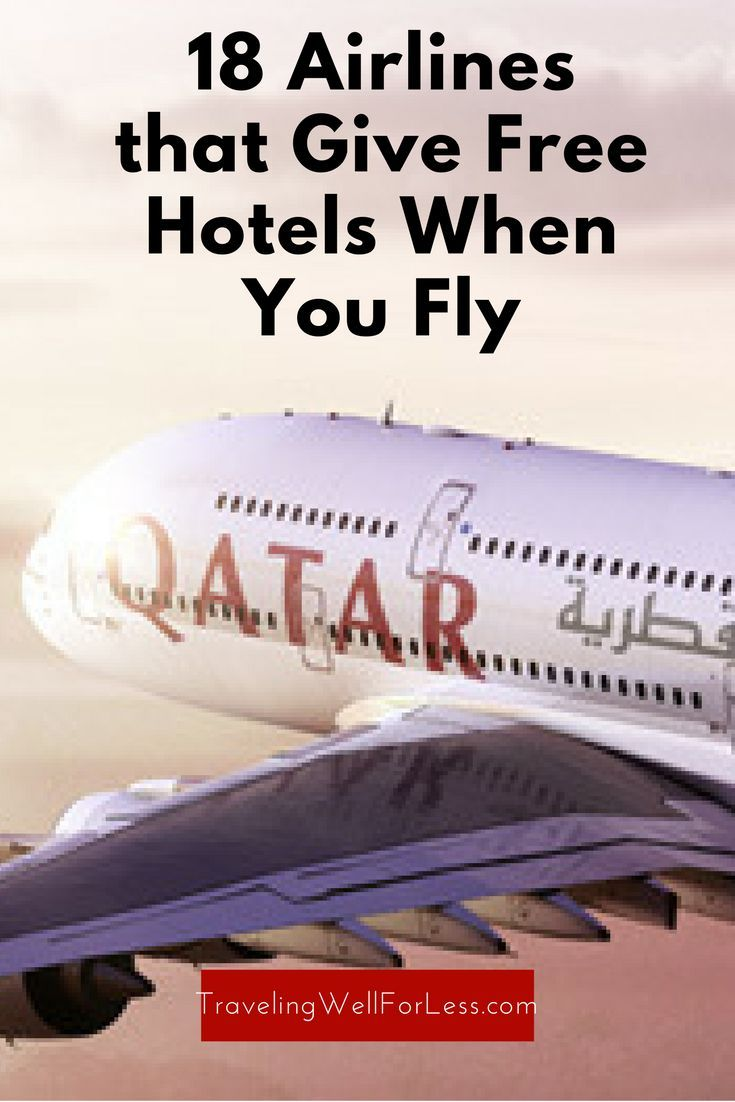Say goodbye to sleeping at the airport during long layovers. Buy a ticket on these airlines and get a free hotel room. http://www.travelingwellforless.com