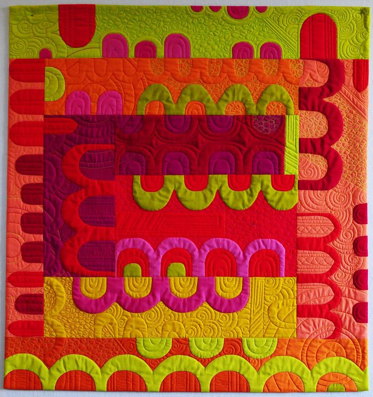 Arches and Tunnels | Kristin Shields Art | Art Quilts | Modern Quilts | Color Play
