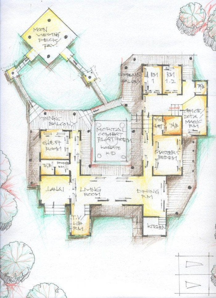 Amazing Traditional Japanese House Floor Plan Design Idea