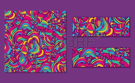 Conjunto de modelos abstractos brillantes y pancartas  Foto de archivo