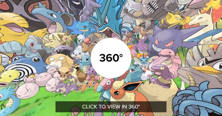 A 360 picture of the entire original class of 151 Pokemon. Can you find them all?