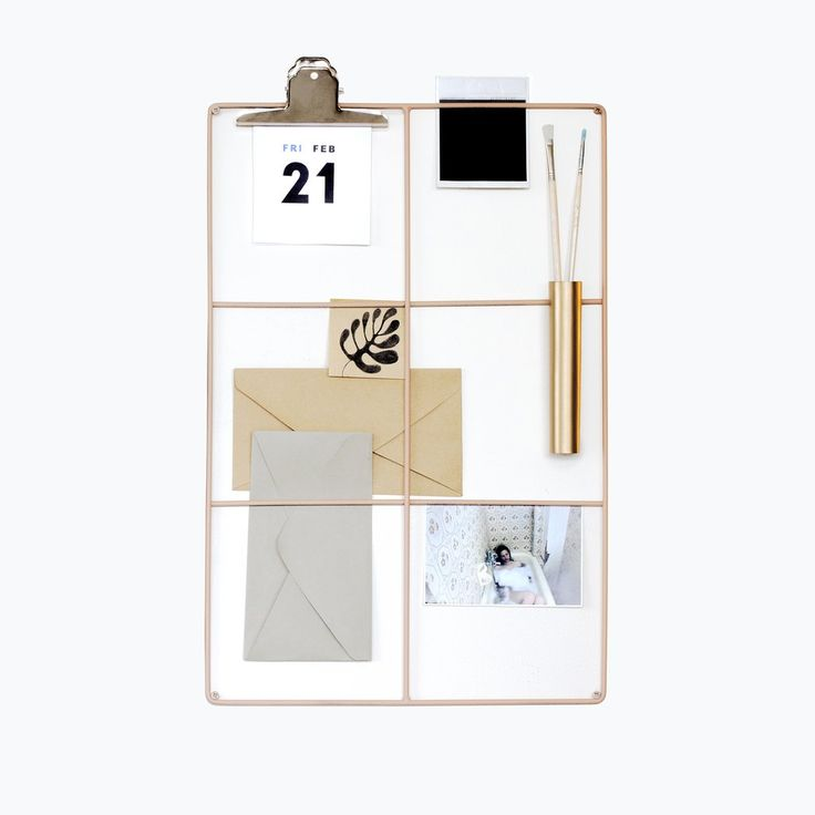 Wallment 6 square grid aslagstavla | Nordic Design Inspiration | Scandinavian Style wire mesh memo board for the perfect workspace by wallment