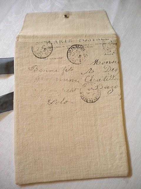 printed fabric envelope