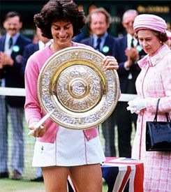 Virginia Wade - Ladies' Singles Champion, Wimbledon 1977 (the Queen's Silver Jubilee year)