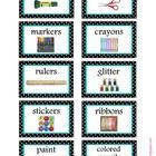 These labels could be used on anything you keep your materials in (tubs, shoeboxes, tupperware, etc...)   Just download - cut - glue or tape...