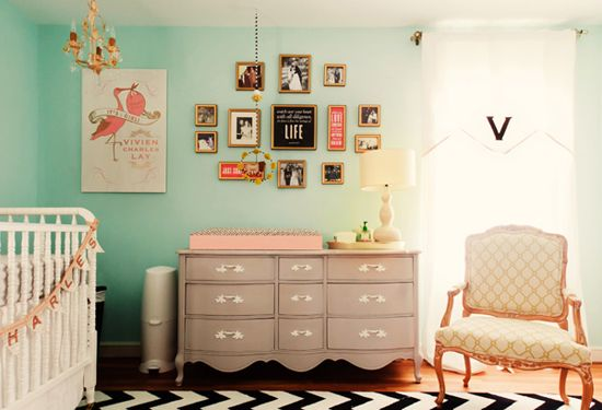 adorable.: Idea, Color Schemes, Wall Color, Dressers, Baby Girls, Baby Rooms, Girls Nurseries, Changing Tables, Girls Rooms