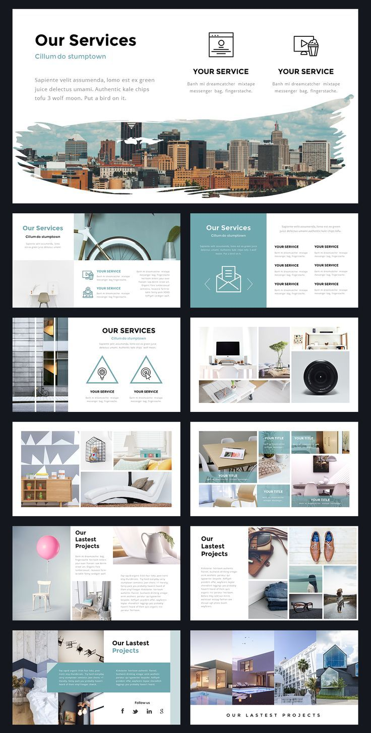 Portal Trendy Powerpoint Template by Thrivisualy on Artistic Market