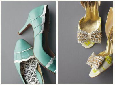 Anthro wedding shoes