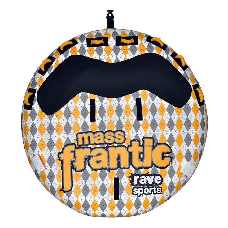 Rave Sports Mass Frantic Towable Inflatable Water Tube, Multicolor