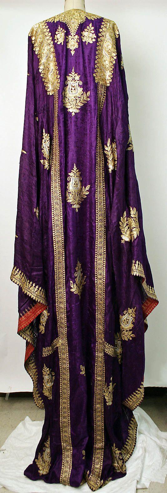 Robe    Date:      1962  Culture:      Saudi  Medium:      silk, metallic thread, sequins  Dimensions:      Length at CB: 88 in. (223.5 cm)  Credit Line:      Gift of Mrs. James J. Rorimer, 1980  Accession Number:      1980.253.1