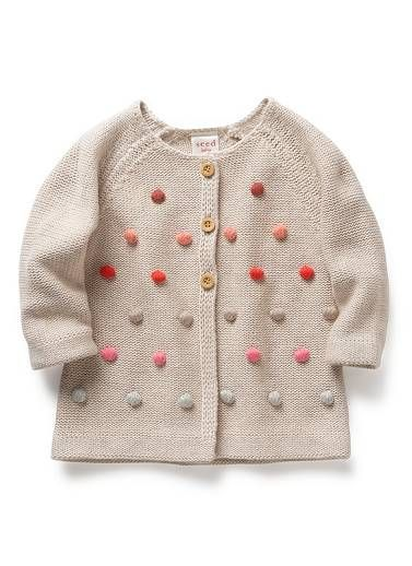 Baby pom pom cardigan - from seed Australia