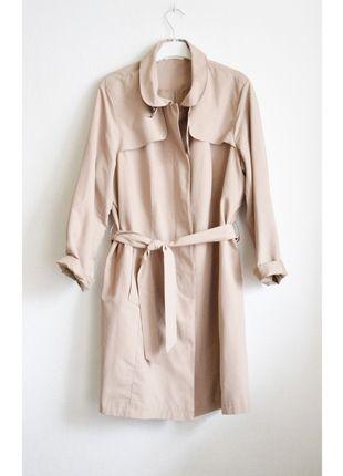 Płaszcz trencz beżowy nude m&s klasyczny długi luźny oversize jasny wiosenny