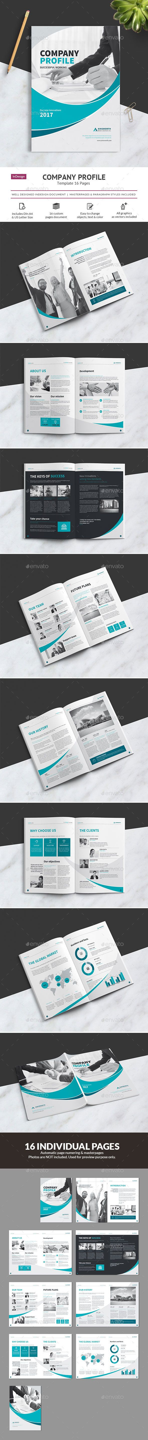 #Company Profile - #Brochures Print #Templates Download here: https://graphicriver.net/item/company-profile/19398496?ref=alena994