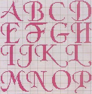 alphabet chart upper case a through p