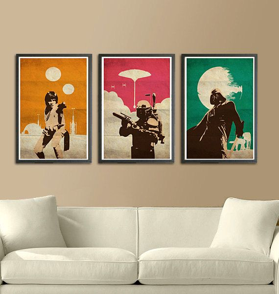 Vintage Pop Art Star Wars Trilogy by Posterinspired on Etsy