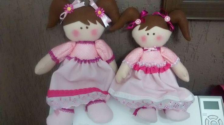 Bonecas Russas em feltro
