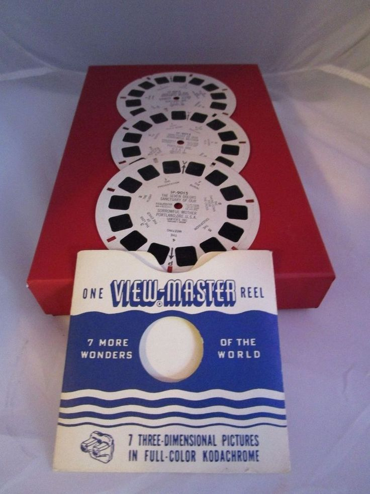 View Master Sanctuary of Our Sorrowful Mother Portland 3 Reels & Sleeve 1960s