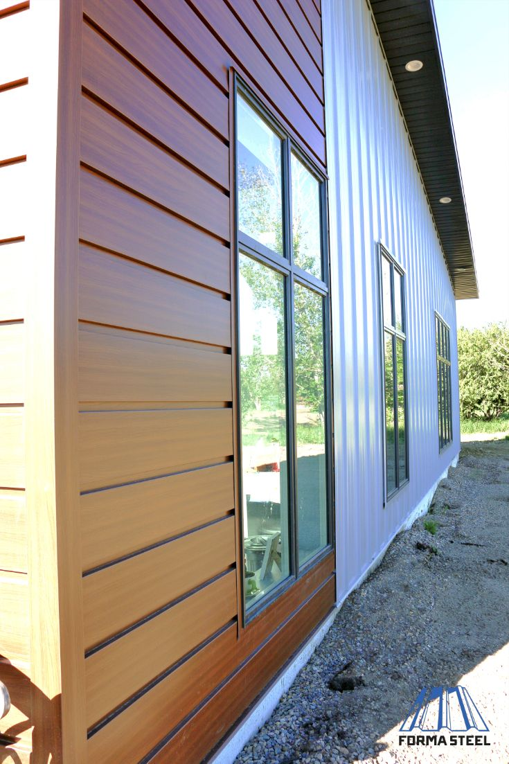 Woodgrain Metal Siding In Espresso Metal Siding Steel Metal Roofing House Designs Exterior