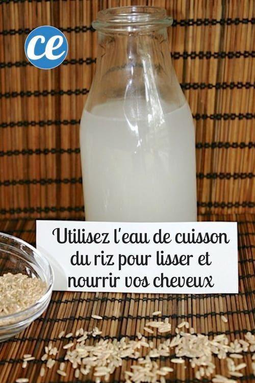 Voici comment lisser et nourrir vos cheveux avec de l'eau de cuisson du riz.