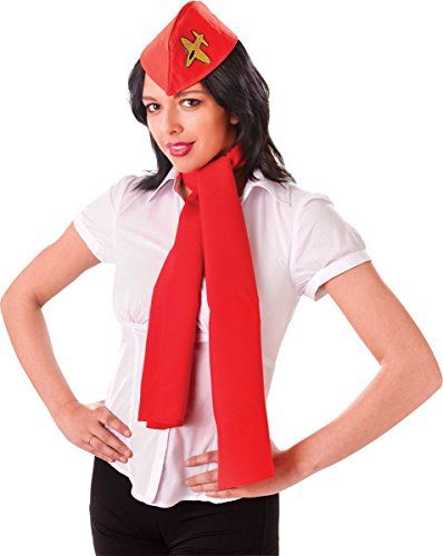 Women Adults Fancy Dress Halloween Party Cabin Crew Air Hostess Kit Hat & Scarf  Women Adults Fancy Dress Halloween Party Cabin Crew Air Hostess Kit Hat & Scarf Please Note Item Available As Hat + Scarf Only Other Accessory Not Included  -- #halloween2017 #costumes #stewardess #Airline