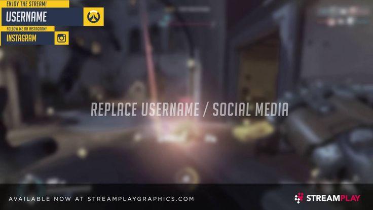 Overwatch Themed Overlay (animated)