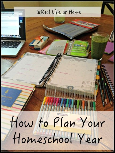 How to Plan Your Homeschool Year - I can't wait to get started with planning for this year! Planning is actually one of my favorite parts!
