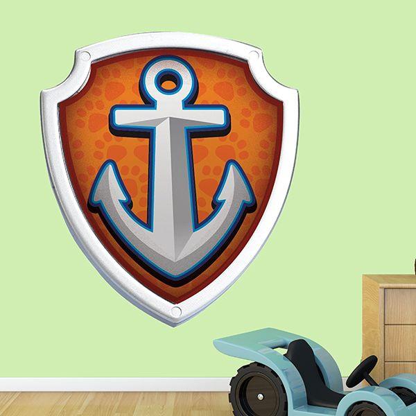 Stickers pour Enfants: La Pat Patrouille - Paw Patrol - Bouclier de Zuma. Chambre d'enfant #Pat #Patrouille #enfance #deco #décoration #vinyle #mur #escudo #Zuma #WebStickersMuraux