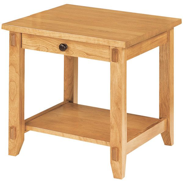 Bungalow End Table   Amish Tables Choose Your Wood U0026 Finish