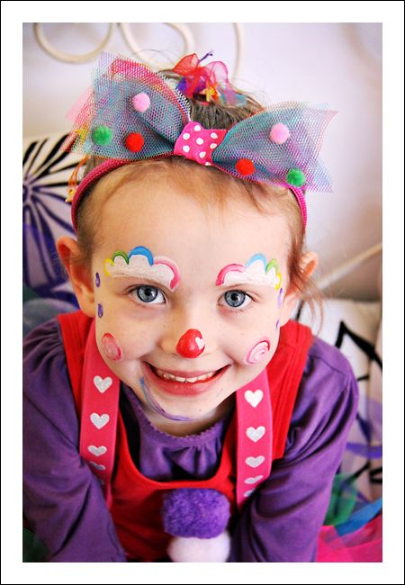 Carnival circus face painting face painting ideas for Face painting clowns for birthday parties