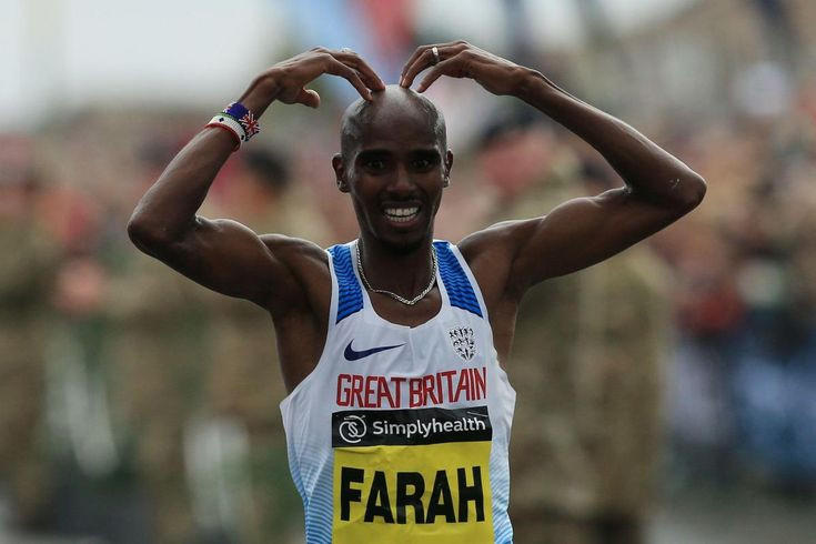 """SIR MO FARAH says he'll celebrate his historic fourth successive Great North Run win with some """"sticky toffee pudding and apple pie"""". Great Britain's 4-time Olympic champion completed prime of the pack with a time of 1 hour and six seconds on Sunday.   AFP   Mo Farah wrote..."""