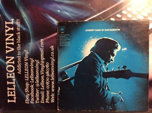 Johnny Cash At San Quentin LP Album Vinyl S63629 A3/B2 Country & Western 70's Music:Records:Albums/ LPs:Rock:Country
