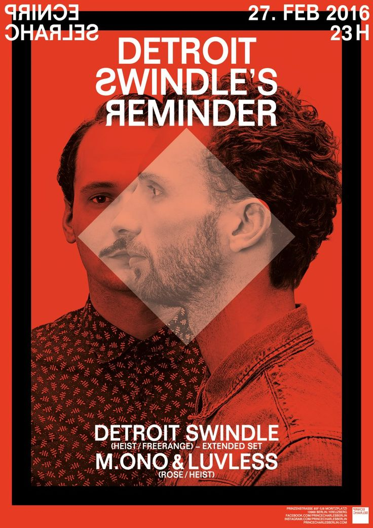 RA Tickets: Detroit Swindle's Reminder at Prince Charles, Berlin