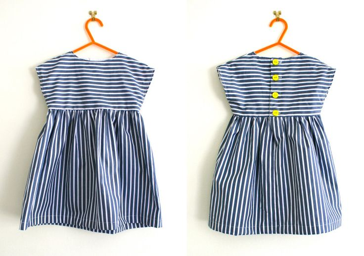 Free striped tunic dress pattern (size 18month-3yr)