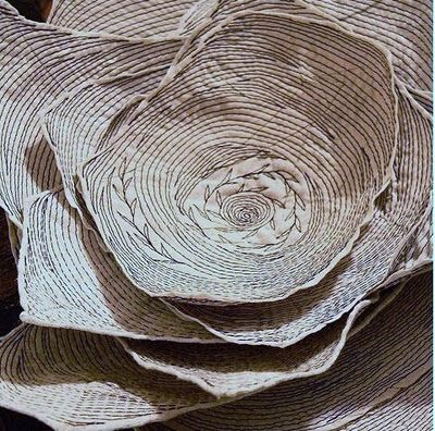 Danny Mansmith, textile art, free machine embroidery