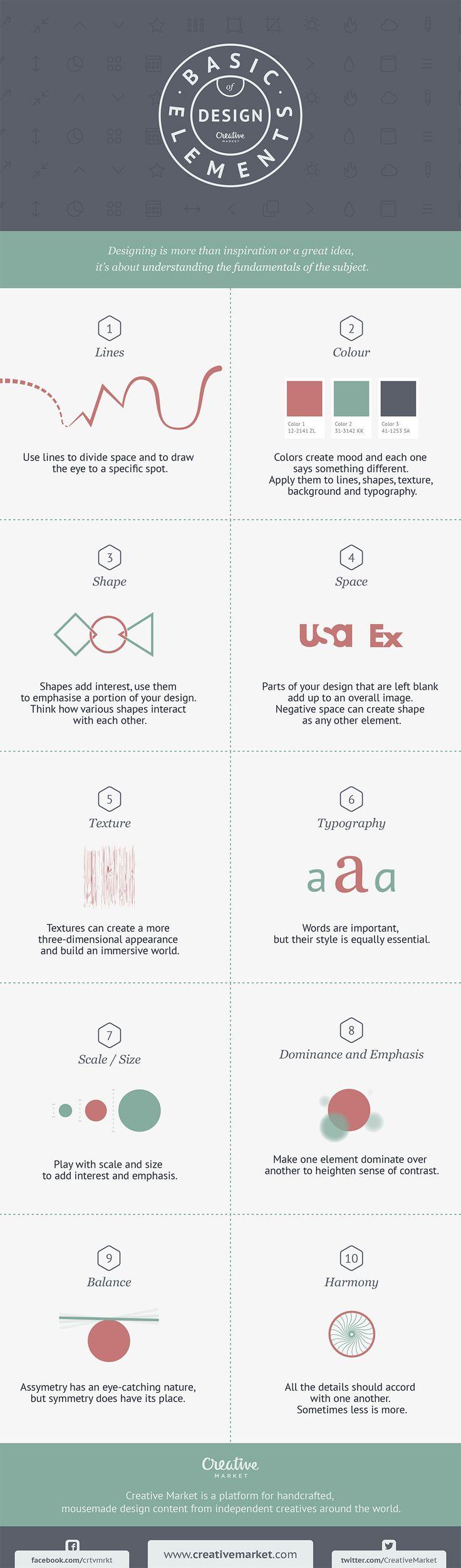 10 Basic Elements of Design You & Your Website Designer Should Stick To [Infographic]