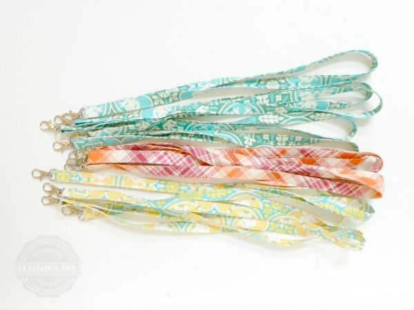 Double Sided Lanyard Tutorial: Back to School at Ellison Lane
