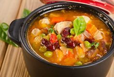Minestrone Soup  With Beans And Vegetables.