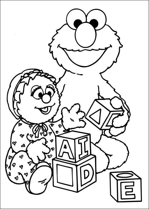 sesame street coloring pages for kids 54