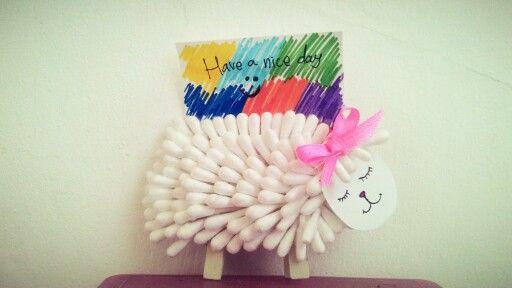 DIY Cotton Sheep For Desk Clip