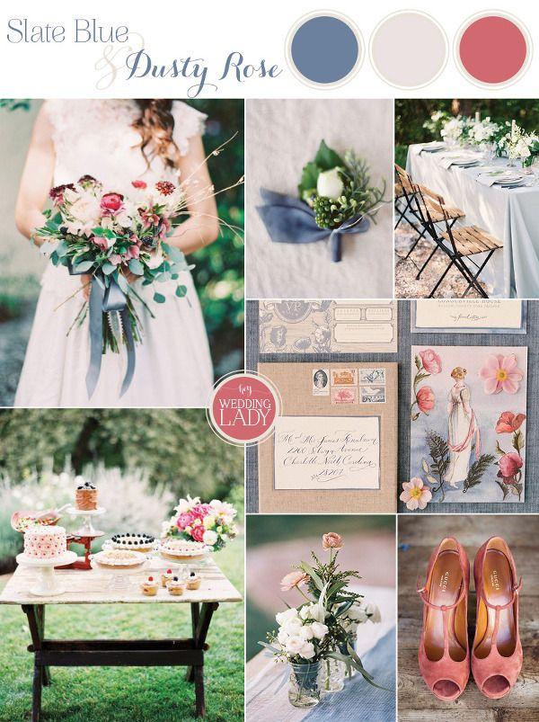 Slate Blue And Dusty Rose Wedding Ideas Dusty Rose