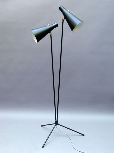 Alf Svensson; Enameled Metal Floor Lamp for Bergboms, c1956.