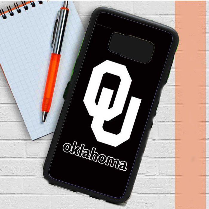 Oklahoma Sooners Black Logo Samsung Galaxy S8 Plus Case Casefreed