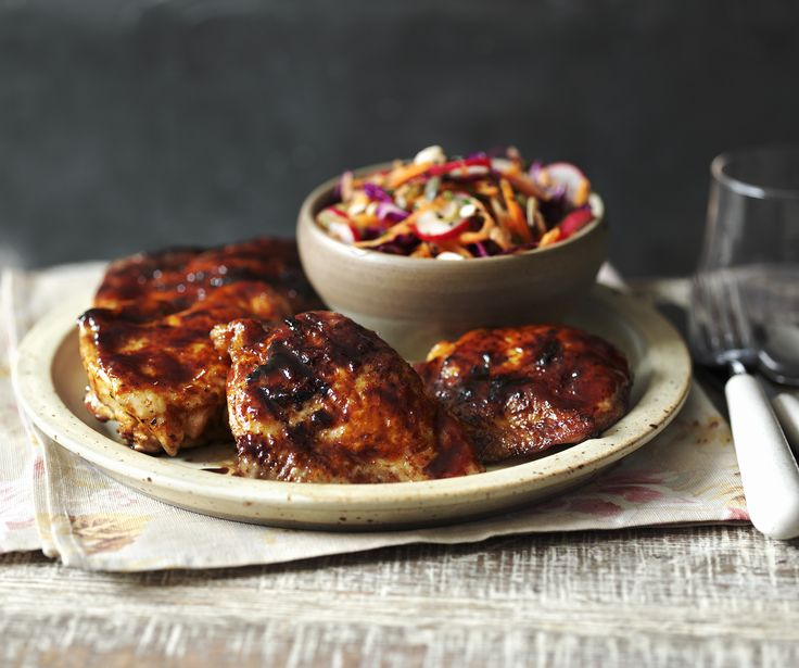 This healthy recipe proves that fried chicken and coleslaw doesn't have to be full of fat.