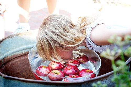 Apple Bobbing!     Photo via flickr.  Information below from Wikipedia, the free encyclopedia.  Apple bobbing , also known as bobbing for a...