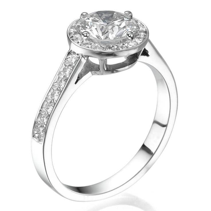 טבעת אירוסין וינטג' היילו