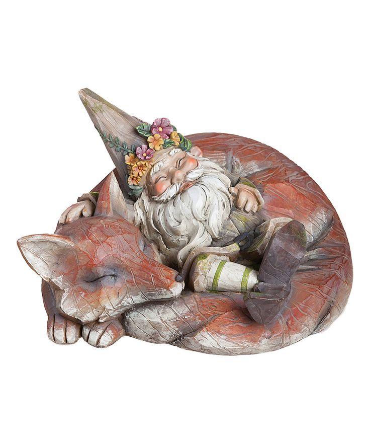 Sleeping Gnome U0026 Fox Garden Figurine By Evergreen #zulilyfinds