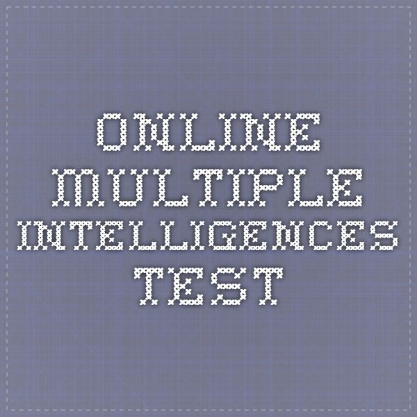 Online Multiple Intelligences Test